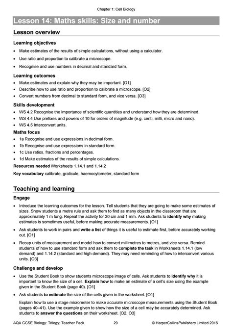 AQA GCSE (9-1) Combined Science: Trilogy -Teacher Pack by