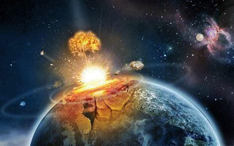 explosion   meteor collision  earth wallpaper