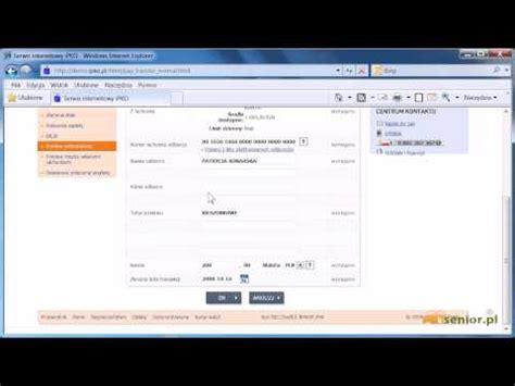 PKO BP - wykonywanie przelewów. - YouTube