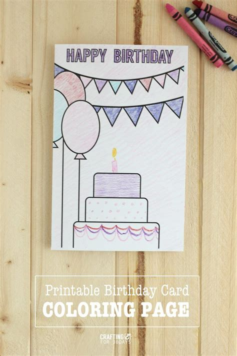 birthday coloring pages birthday card drawing happy