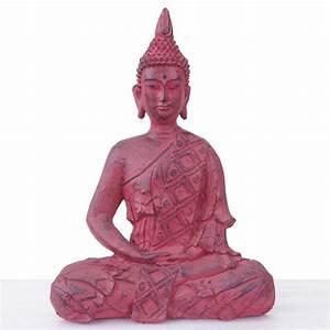 Buddha Figuren Deko : xl deko figur buddha 39cm polyresin skulptur in outdoor sitzend rot ~ Indierocktalk.com Haus und Dekorationen