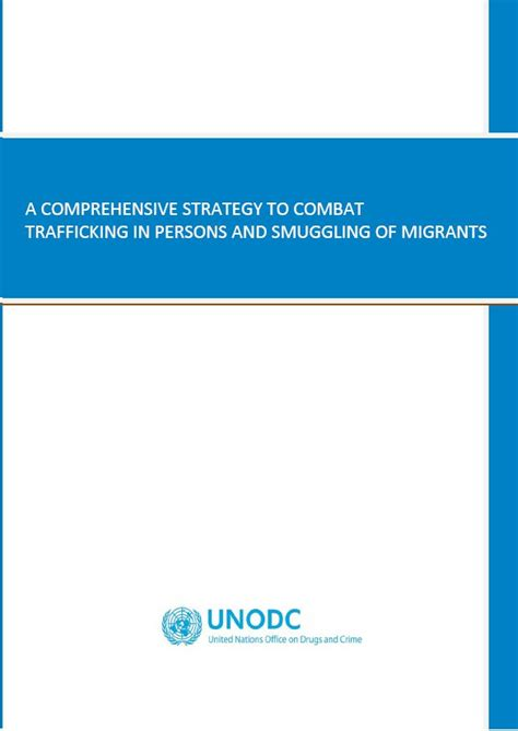 unodc strategy  human trafficking  migrant smuggling
