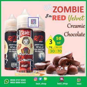 jual zombie    red velvet coklat  ml  mg