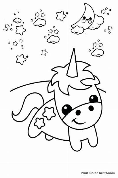 Unicorn Coloring Pages Easy Draw Drawing Adults