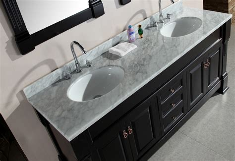 72 double sink vanity marble top adorna 72 quot double sink vanity set with carrara white
