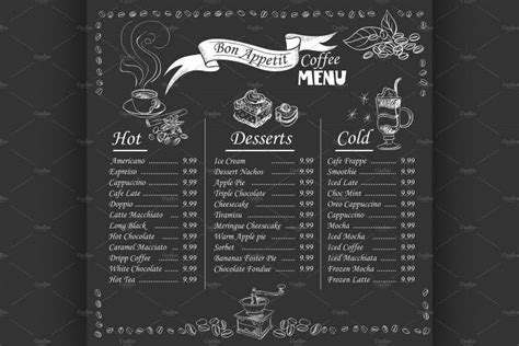 If you want to make a menu for your coffee shop to organize all items you provide, go with fotojet. 13+ Coffee House Menu Designs - PSD, AI, InDesign   Free ...
