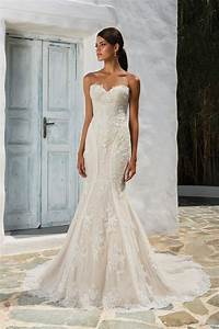 style 8862 sequined lace fit and flare wedding dress With fit and flare wedding dress