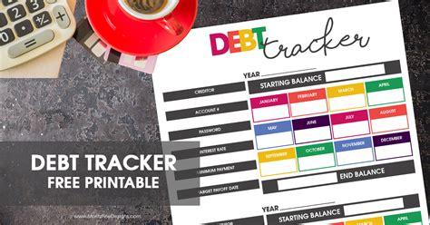 printable debt tracker  reach  income goals