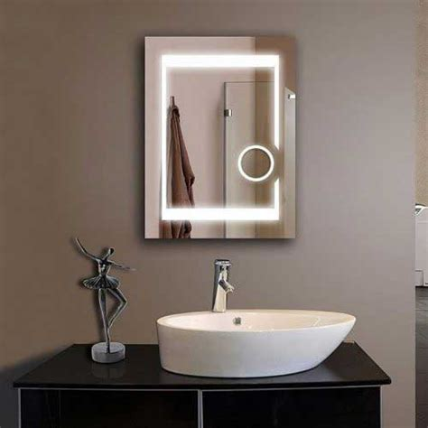 frameless vanity mirror with lights frameless bathroom mirror shop moen rockcliff extralarge