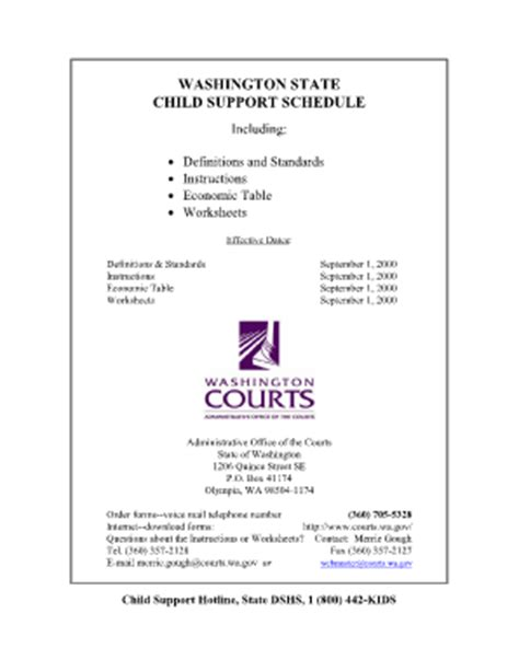 Wa State Department Of Child Support  Fill Online, Printable, Fillable, Blank Pdffiller
