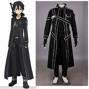 Sword Art Online Kirito Cosplay Costume-in Game Costumes ...