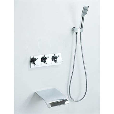 Chrome Finish   Waterfall Tub Faucet with Hand Shower