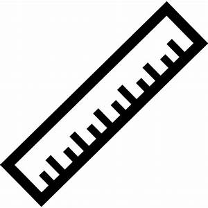 Ruler in diagonal position - Free education icons