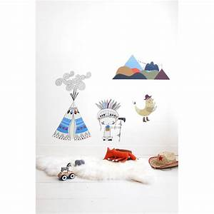 Tipi Chambre Garçon : sticker indientipi gar on ~ Teatrodelosmanantiales.com Idées de Décoration