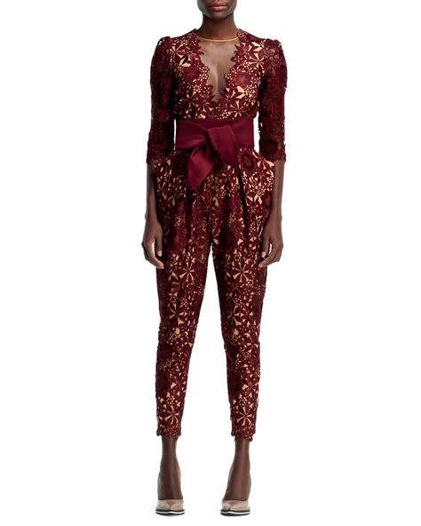 lace jumpsuit stella mccartney half sleeve flower lace jumpsuit in