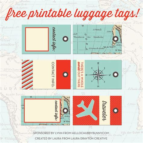 images  printable luggage tags  pinterest