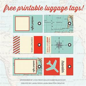 33 best images about printable luggage tags on pinterest With luggage labels template