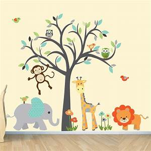 safari wall decal nursery wall decal jungle by With jungle wall decals