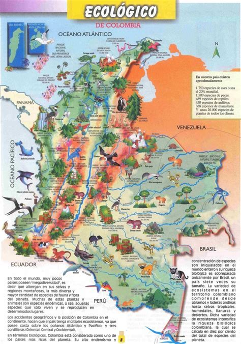 Mapa de Colombia: político regiones relieve para colorear Imágenes