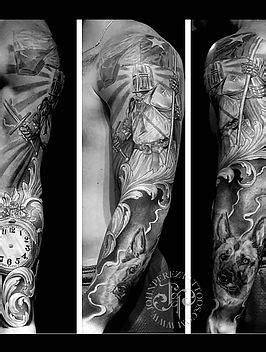 Black And Gray Realism Tattoo