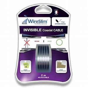 Cable D Antenne Tv : wireslim invisible coaxial cable 2 m tres c ble ~ Dailycaller-alerts.com Idées de Décoration