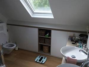menuiserie sur mesure a lasne mt design With meuble de salle de bain sous pente