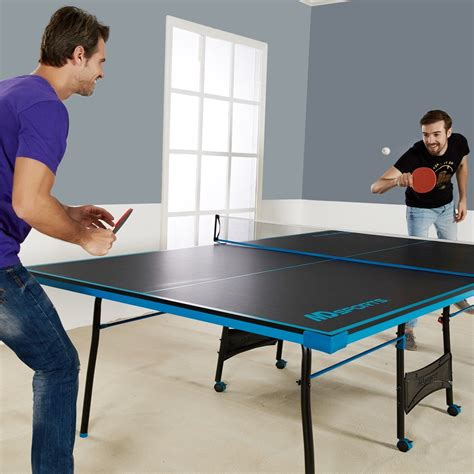 ping pong the original table ping pong table tennis black blue official size sports