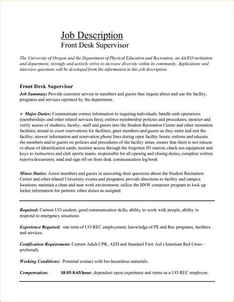 front desk receptionist job description for resume 6 front desk receptionist job description invoice