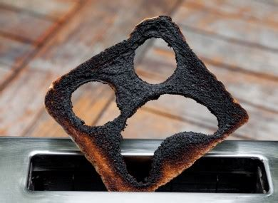Burning Toaster - the burning question do you scrape burnt toast into the