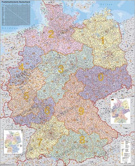 Deutschland Plz Karte