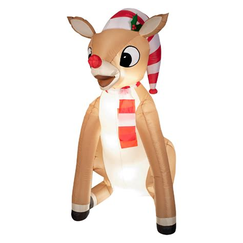 Rudolph Outdoor Decorations - rudolph outdoor decorations with scarf airblown