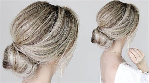 hair up styles bun how to simple bun tutorial 4646