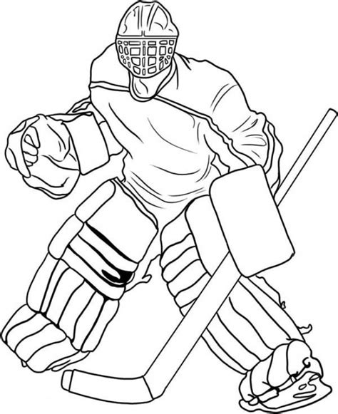 pro hockey player coloring pages  print