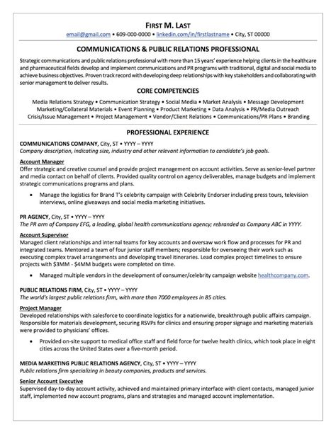 U S Resume by Relations Resume Sle Professional Resume