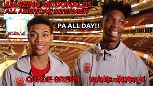 "LONNIE WALKER IV & QUADE GREEN ""AMAZING"" McDonalds All ..."