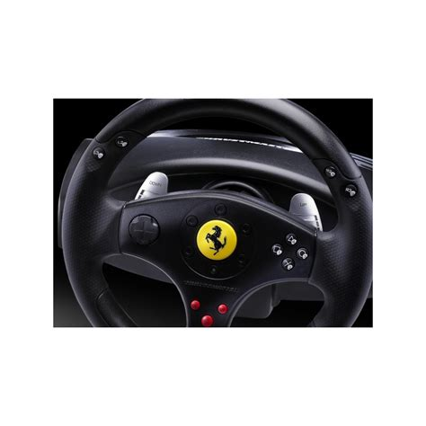 The clamp makes it easy to keep the wheel steady on a surface, and everything else about the wheel and pedals doesn't feel too cheap. Thrustmaster Volante Ferrari GT Experience Racing Wheel - ProComponentes