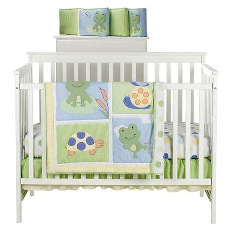 cheap frog baby bedding tiddliwinks froggie 3 pc bed set
