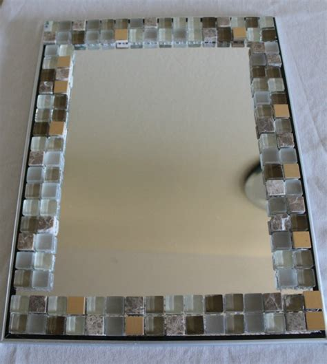Tile Bathroom Mirror Frame by Glass Mosaic Tile Mirror Frame Home Decor All Crafts