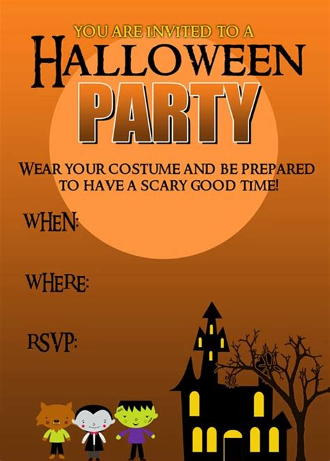 (20 crafty days of halloween) party invitation printable