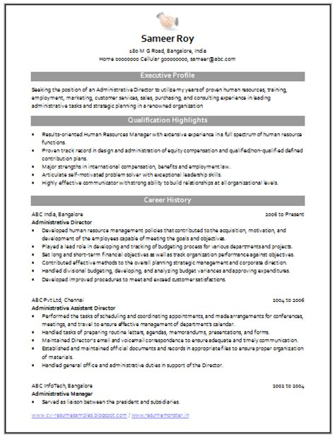 Administrative Services Manager Resume by Sle Cv Of Customer Service Manager