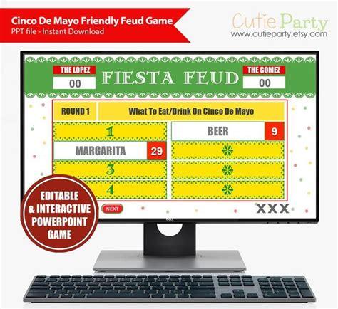 Cinco De Mayo Friendly Feud Game, Mexican Party Trivia ...