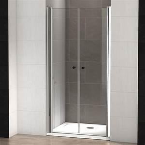 Porte Douche 90 : porte de douche battante elba 90 thalassor ~ Nature-et-papiers.com Idées de Décoration
