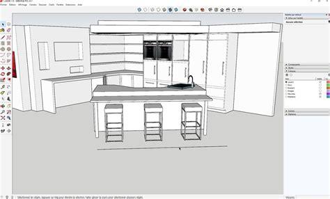 sketchup cuisine tuto réaliser sa cuisine dans sketchup formation aménagement d 39 intérieur avec sketchup 2017