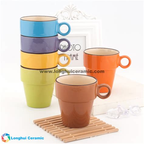 stackable coffee mugs 8oz stackable ceramic coffee mugs exportimes com