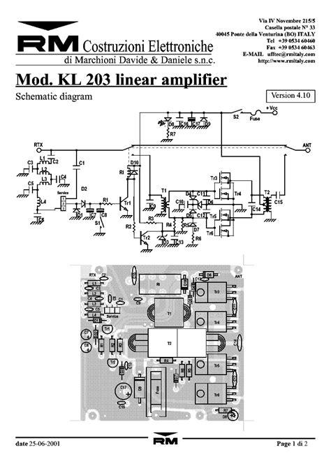 Linearamp Service Manual Download Schematics