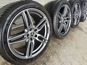 """We just wanted to let you know that both our phone lines and warehouse are open as. Genuine Mercedes E Class W213 W238 19"""" AMG Line Alloy Wheels & Tyres W212 Black   eBay"""