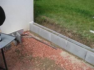 Mauer Bauen Fundament : eine st tzmauer aus beton schalungssteinen zum h henausgleich wir bauen dann mal ein haus ~ Orissabook.com Haus und Dekorationen