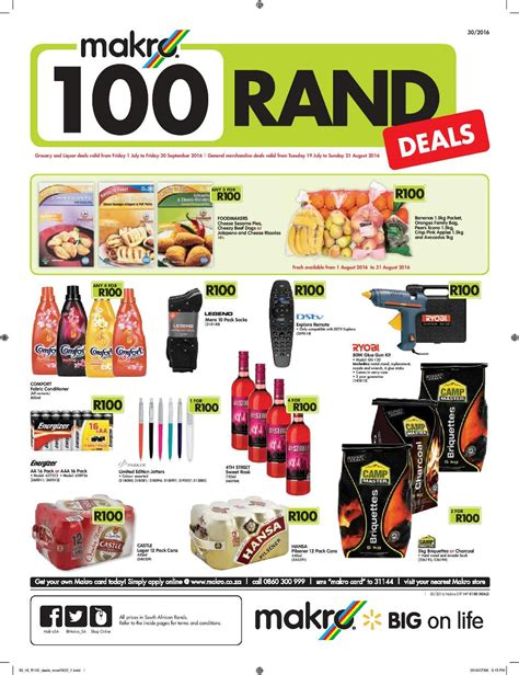 80830 Food Coupons South Africa by Makro R100 Deals 2018 Coupons