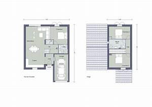 plan maison etage 100m2 immobilier pour tous With plan maison a etage 100m2