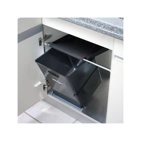 poubelle cuisine ouverture automatique poubelle cuisine basculante 1 bac 35 litres